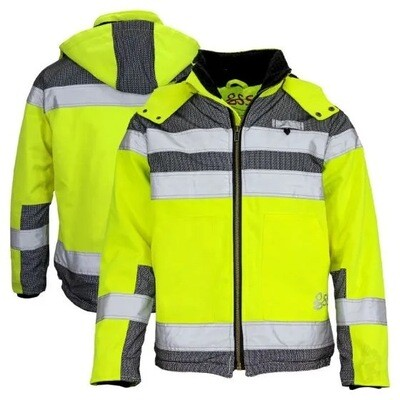 Heavy Duty Canvas Sherpa Lined Safety Jacket GSS 8515
