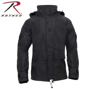 ROTHCO TACTICAL HARD SHELL WATERPROOF JACKET - BLACK