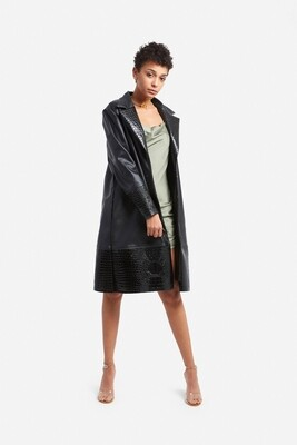 Croco leather coat