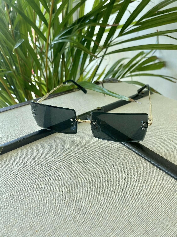 """Around the way Girl"" Rimless Rectangle Sunglasses"