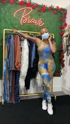 """Dip it Low"" Tye Dye jumpsuit"