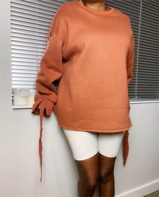 """Rollup"" Fleece Pullover"