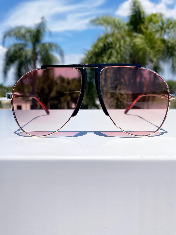 """Members Only"" Oversized Aviator sunglasses"