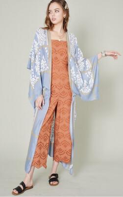 """Queendom"" Long Kimono 40""x54"""