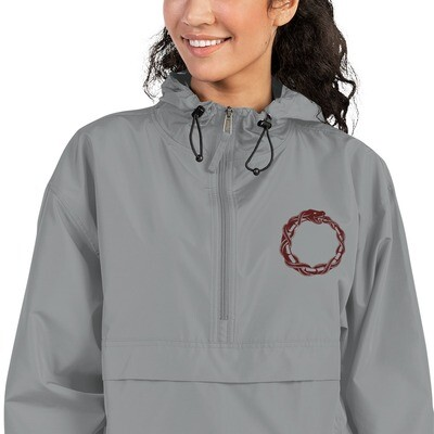 Embroidered Champion Packable Jacket Ouroboros Unique Design