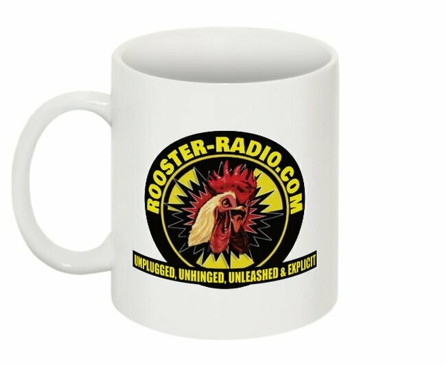 Official Rooster-Radio.com coffee mug
