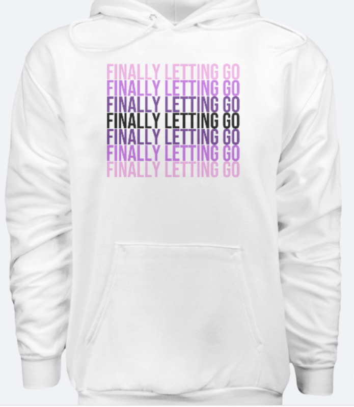Letting Go Unisex Hoodie - White [PRE-PURCHASE ONLY]