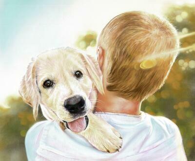 'Puppy & Boy'