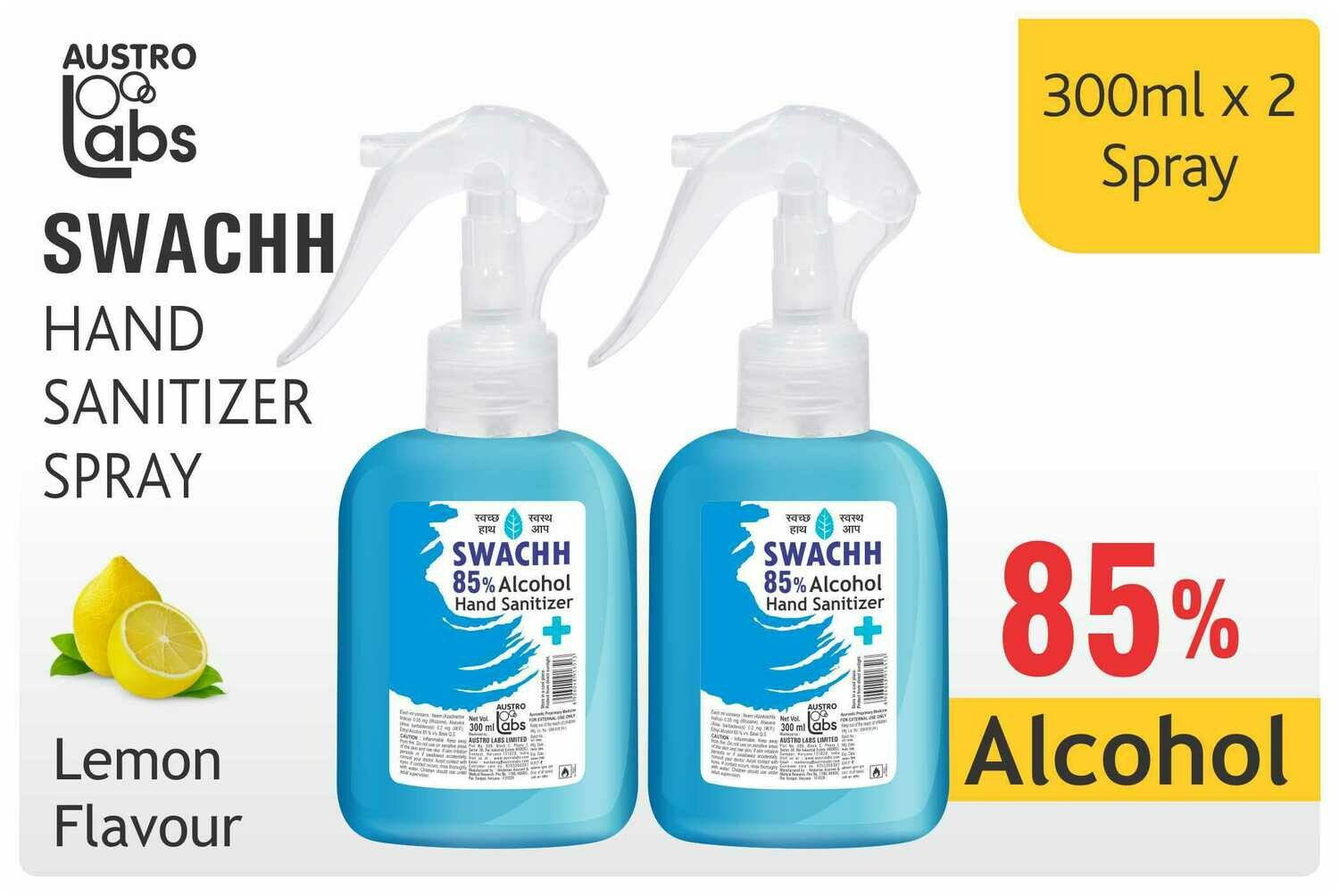 Austro Labs Swachh Hand Sanitizer (Spray) - Pack of 2