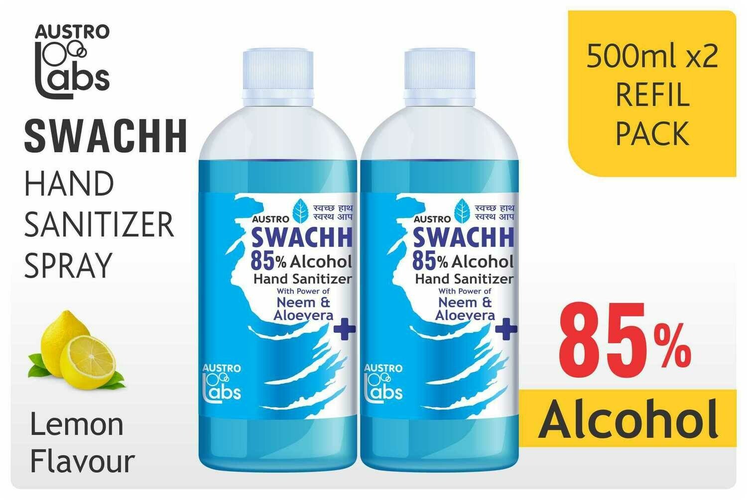 ​Austro Labs Swachh Hand Sanitizer Refill - Pack of 2