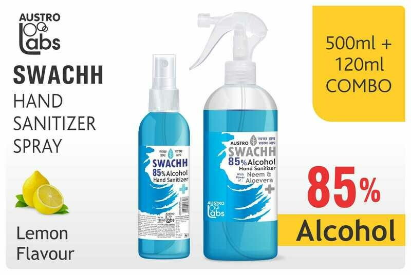 Austro Labs Swachh Hand Sanitizer (Spray and Mist) - Pack of 2