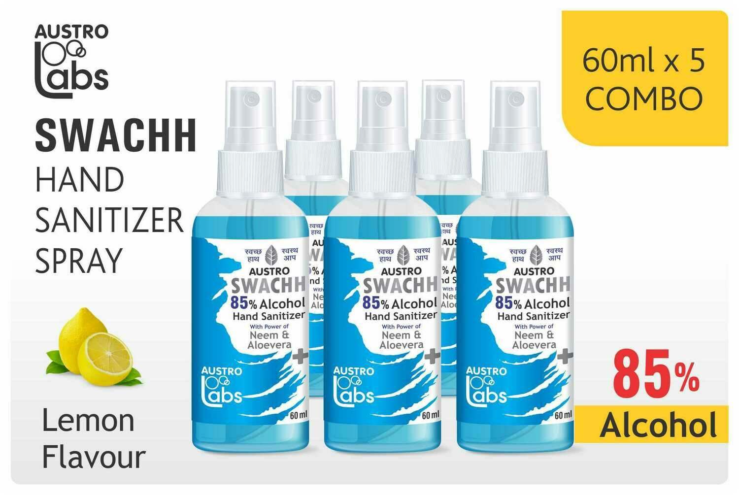 Austro Labs Swachh Hand Sanitizer Pack of 5