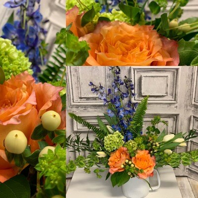 Floral Arrangement, Vased