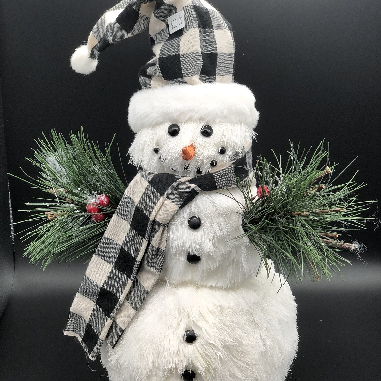 Plaid Snowman
