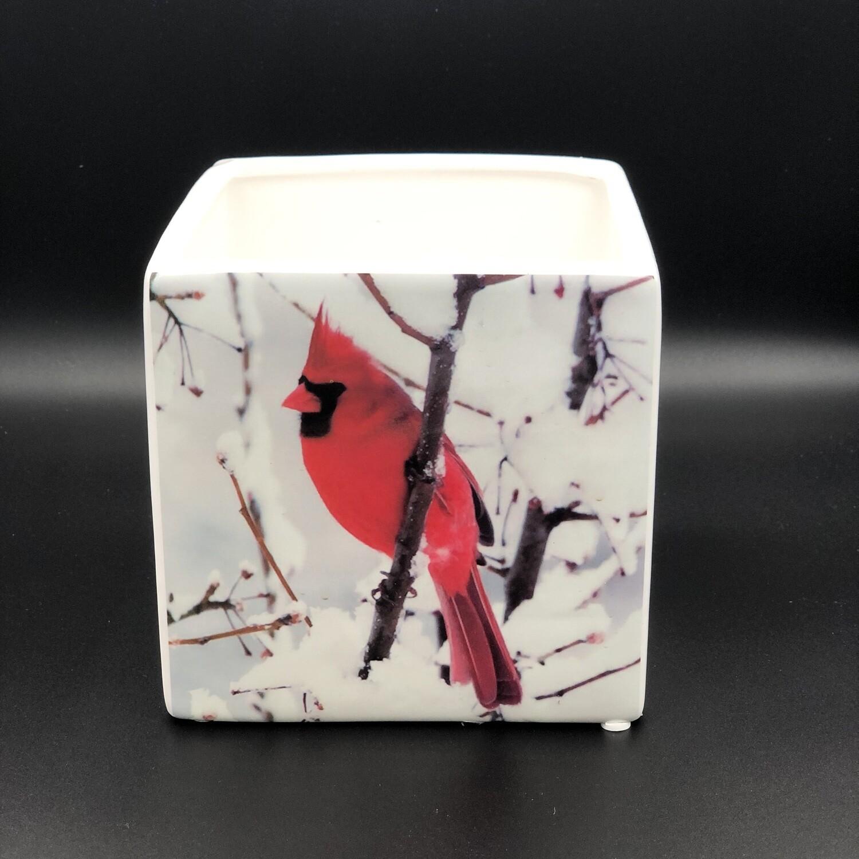 "Ceramic Cardinal Cube 5"""