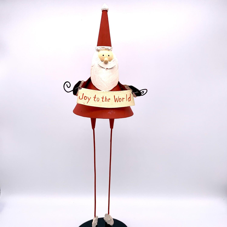Metal Holiday DŽcor Santa Joy