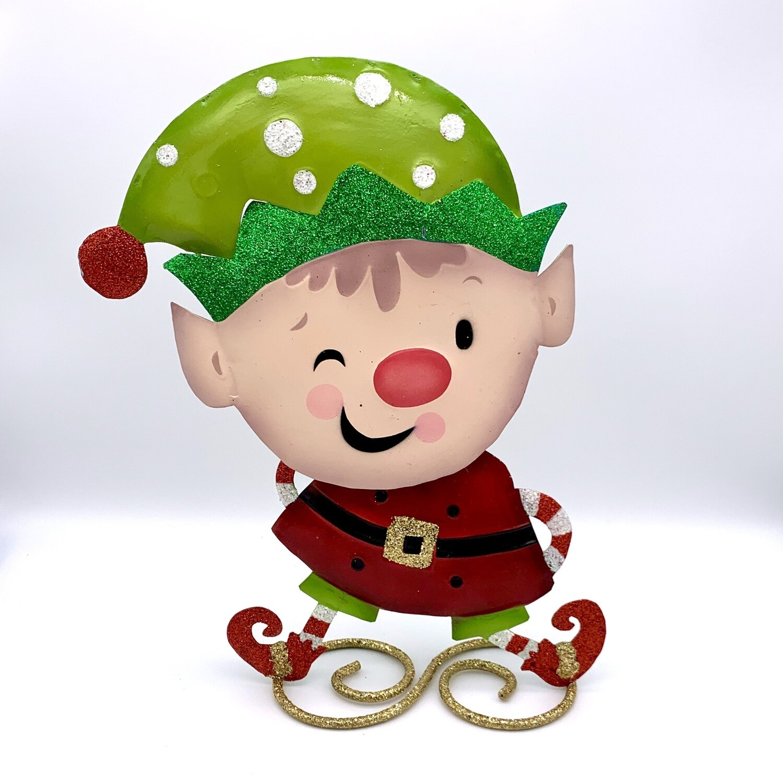 Metal Holiday DŽcor Elf