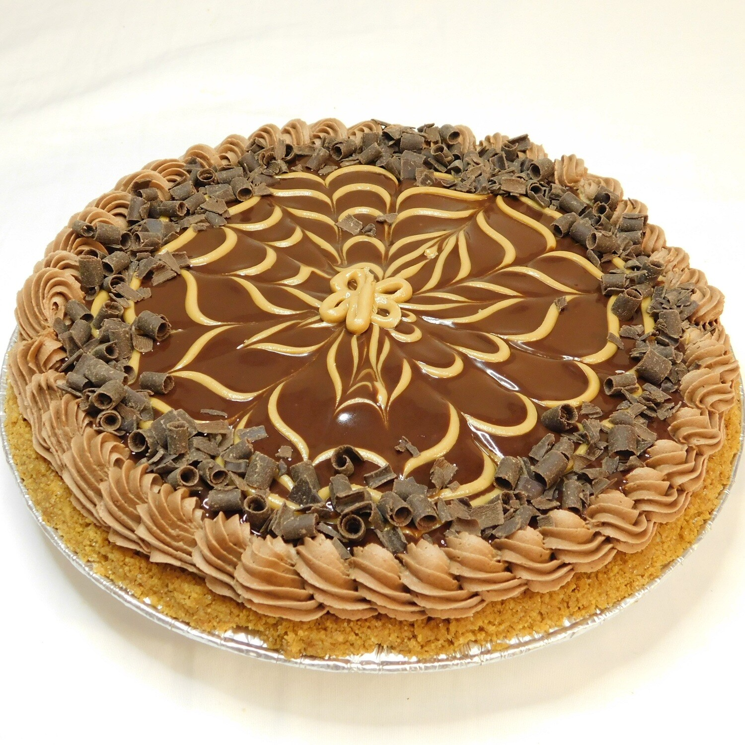 Chocolate Peanut Butter Ganache Pie
