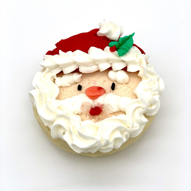 Santa Face Cookie