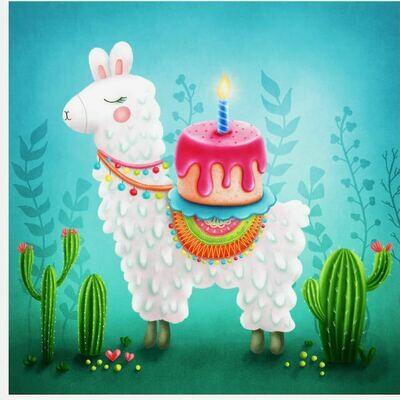 Birthday Llama Puzzle