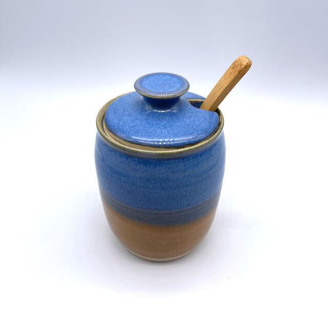 Sugar Bowl w/Wood Spoon