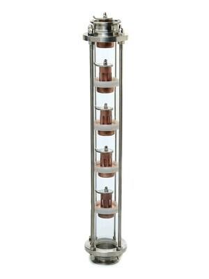 Тарельчатая колпачковая колонна медная ProfiCap 5 уровней, тарелки 2