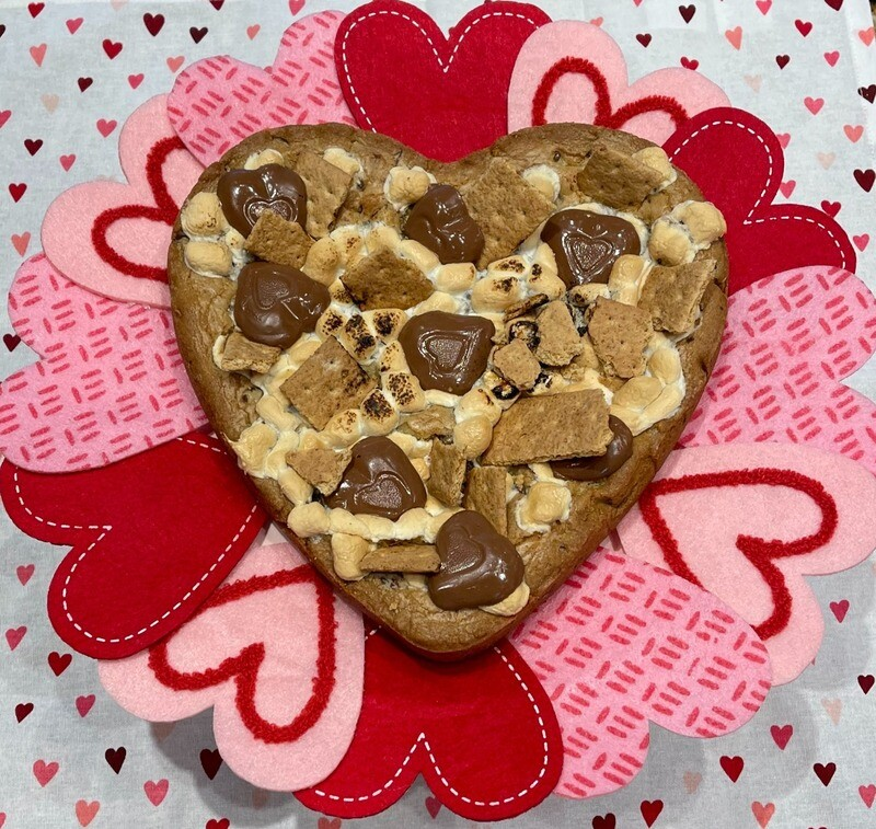 PRE-ORDER & IN-STORE PICKUP ONLY: Heart S'mores Cookie Cake