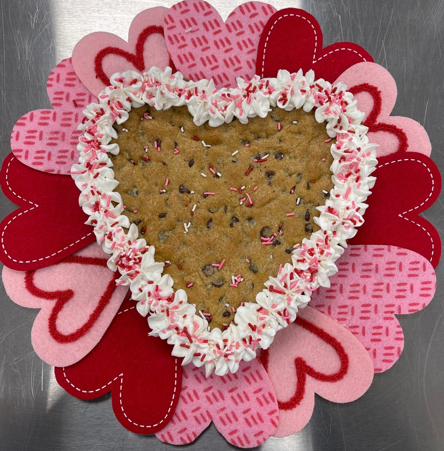 PRE-ORDER & IN-STORE PICKUP ONLY: Heart Choc Chip Cookie Cake