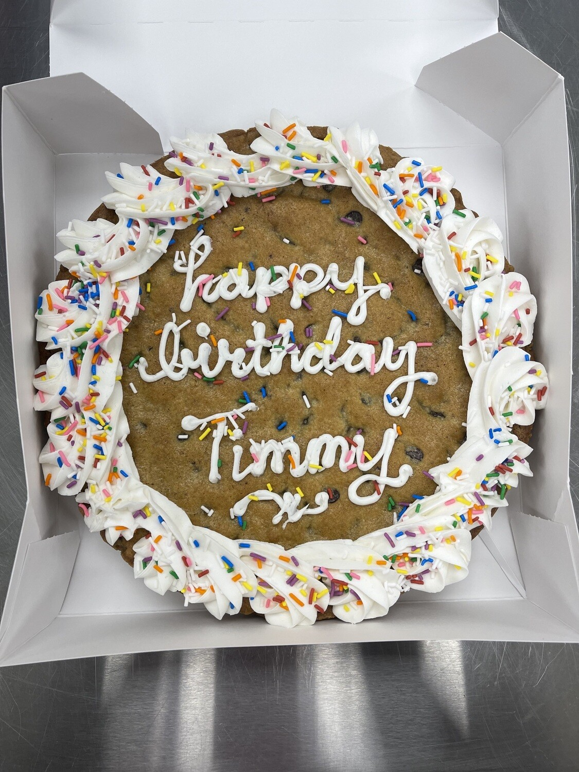 """PRE-ORDER AND IN-STORE PICKUP ONLY 9"""" Chocolate Chip Cookie Cake"""