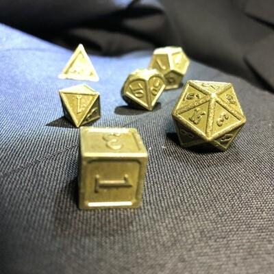 Dados para RPG, 7 Piezas, Metálicos