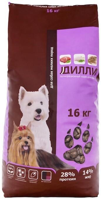 Дилли для взрослых собак мелких пород по 1, 4 и 16кг