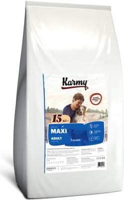 Karmy Maxi Adult- сухой корм для собак крупных пород старше 1 года, Телятина. 15кг.