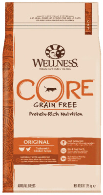 Сухой корм Wellness Core для кошек, Индейка с курицей