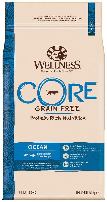 Сухой корм Wellness Core для взрослых кошек из лосося с тунцом