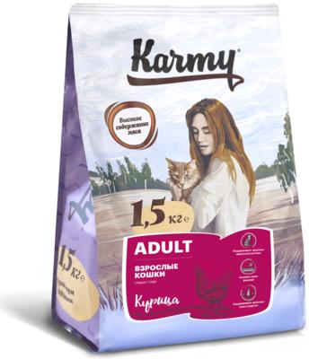 Karmy adult Сухой корм Карми для взрослых кошек, курица