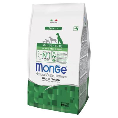 Monge (Монж/Монже) Dog Maxi корм для щенков крупных пород. Фасовка 0,8; 3 и 12кг