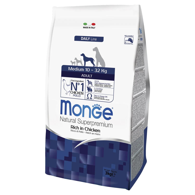 Monge (Монж/Монже) Dog Medium корм для взрослых собак средних пород. Фасовки по 3 и 12кг.