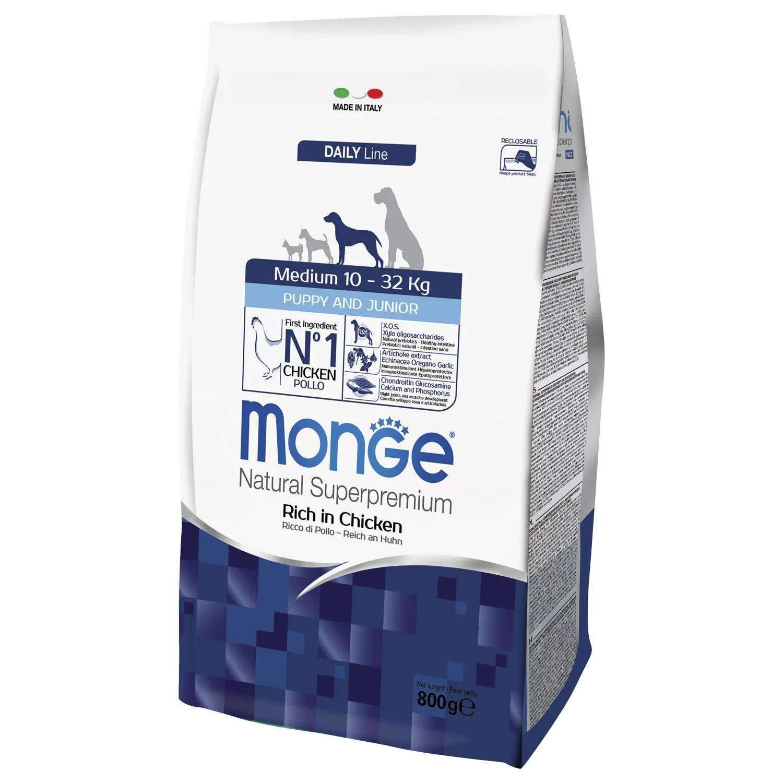 Monge (Монж/Монже) Dog Medium корм для щенков средних пород. Фасовки по 800г, 3кг и 12кг.