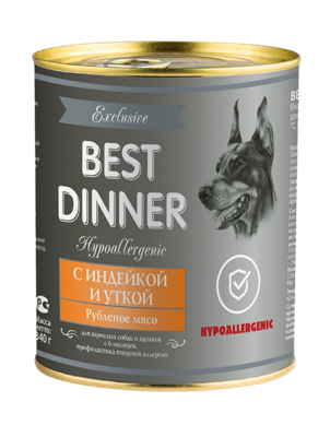 Best Dinner Hypoallergenic С индейкой и уткой