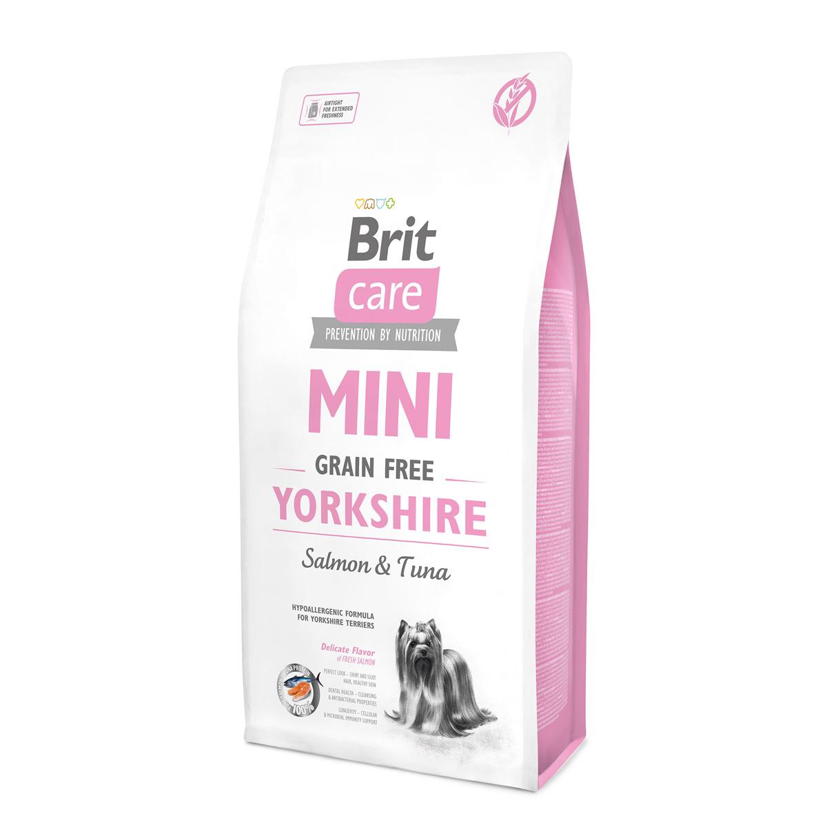 Brit Care MINI Yorkshirec лососем и тунцом для йоркширских терьеров.