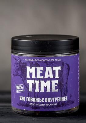 Ухо внутреннее MEAT TIME, для средних и крупных пород собак, 60гр.