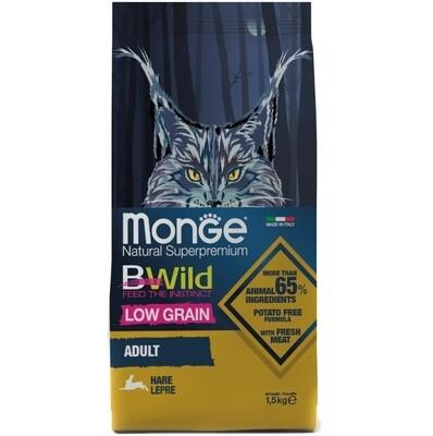 Monge Cat BWild LOW GRAIN низкозерновой корм из мяса зайца для взрослых кошек