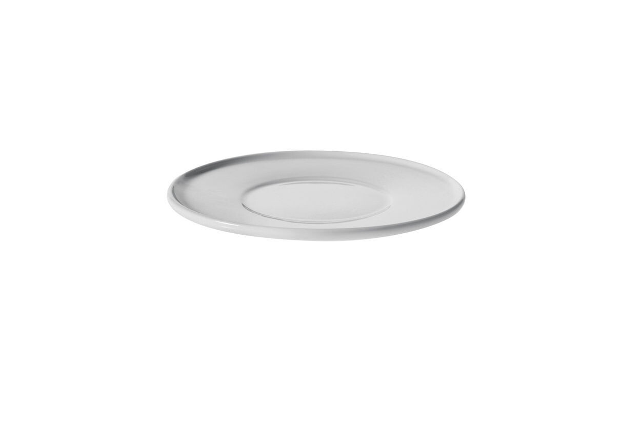 ALESSI 'platebowlcup' set/4 ondertassen 12cm voor espressotassen wit