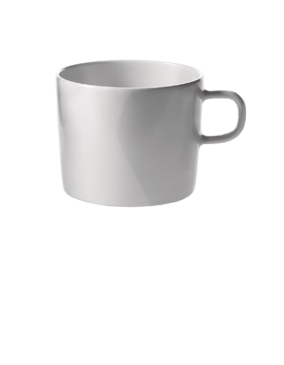ALESSI 'platebowlcup' set/4 koffietassen H6,5cm wit