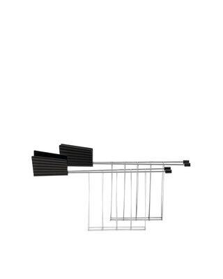 ALESSI 'plissé' set/2 toastklemmen voor broodrooster zwart
