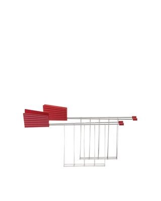 ALESSI 'plissé' set/2 toastklemmen voor broodrooster rood