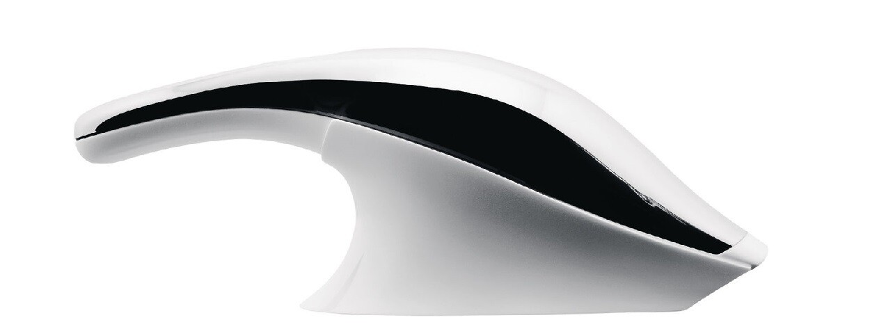 ALESSI elektrische kruimelzuiger RVS/wit met wandhouder