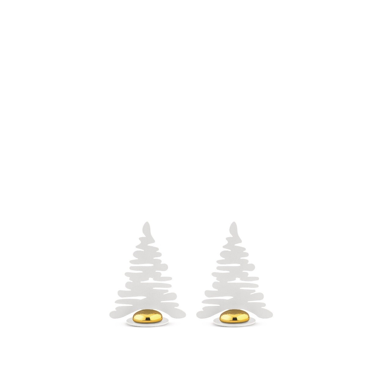 ALESSI 'bark for christmas' set/2 naam- of fotohouders wit met vergulde magneet