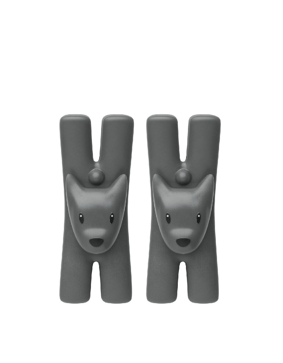 ALESSI 'giampo' set/2 knijpers zwart hond
