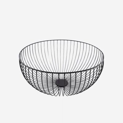 POINT-VIRGULE 'wire' fruitmand 35cm zwart